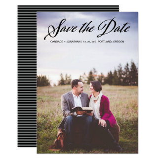 Classy Handwritten Calligraphy Photo Save the Date Card