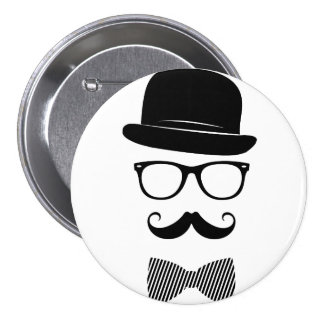 Classy hipster 7.5 cm round badge
