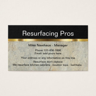 Classy Home Resurfacing Services Business Card