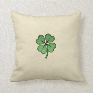 Classy Irish Lucky Shamrock Cushion