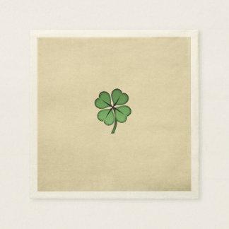 Classy Irish Lucky Shamrock Disposable Serviettes