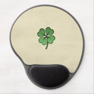 Classy Irish Lucky Shamrock Gel Mouse Pad