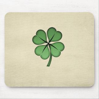 Classy Irish Lucky Shamrock Mouse Pad