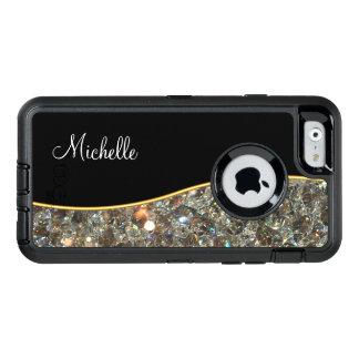 Classy Jeweled Monogram OtterBox Defender iPhone Case