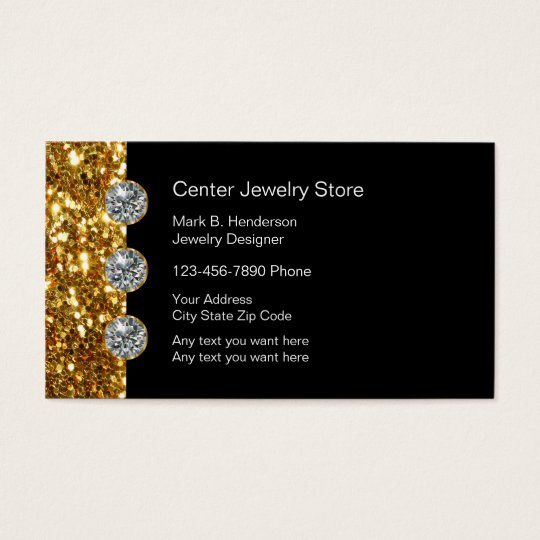 Classy Jewellery Store Business Card