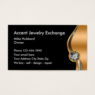 Classy Jewelry Business Cards