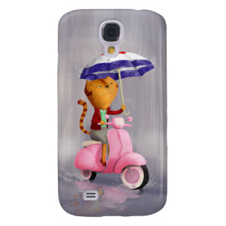 Classy Kitty Cat on pink scooter HTC Vivid Cases