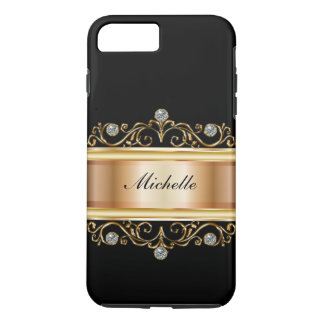 Classy Ladies Monogram Bling iPhone 8 Plus/7 Plus Case