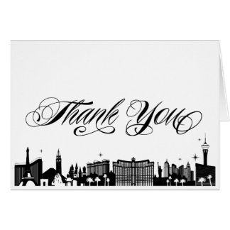 Classy Las Vegas Strip Skyline Thank You Card
