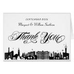 Classy Las Vegas Strip Skyline Thank You Note Card