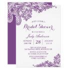 Classy Lavender Purple Modern Lace Bridal Shower Card
