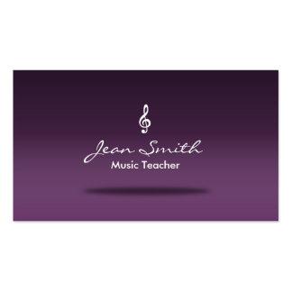 Classy Lavender Purple Music Teacher Business Card