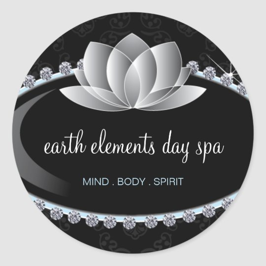 Classy Lotus Flower and Day Spa Sticker