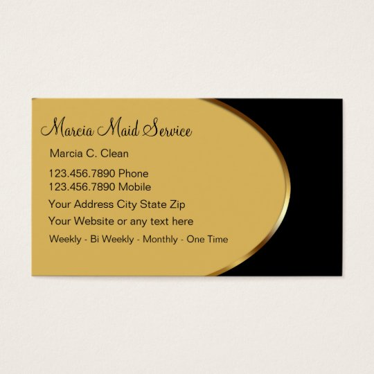 Classy Maid Service Business Cards