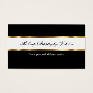 Classy Makeup Artist Business Cards
