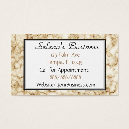 Classy Marble Classy Business Card