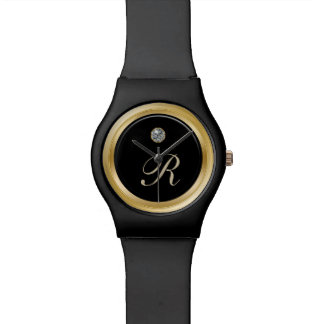 Classy Men's Monogram Wristwatch