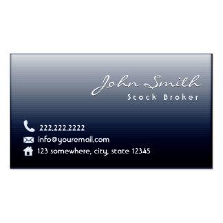 Classy Midnight Blue Stock Broker Business Card