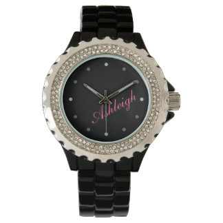 Classy Mod Ladies Personalized Monogram Watch