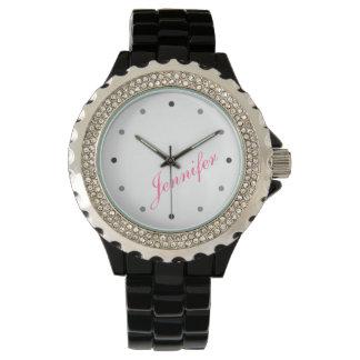 Classy Mod Ladies Personalized Monogram Wristwatch