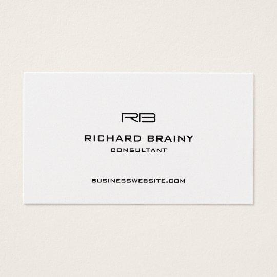 Classy Modern Monogram Business Card