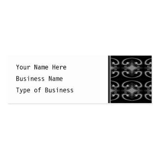 Classy Monochrome Swirl Pattern. Double-Sided Mini Business Cards (Pack Of 20)