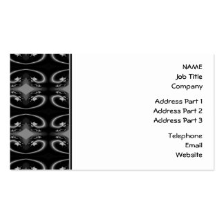 Classy Monochrome Swirl Pattern Business Card