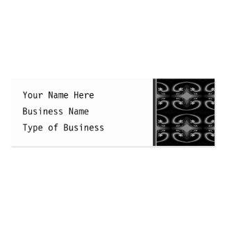 Classy Monochrome Swirl Pattern. Pack Of Skinny Business Cards