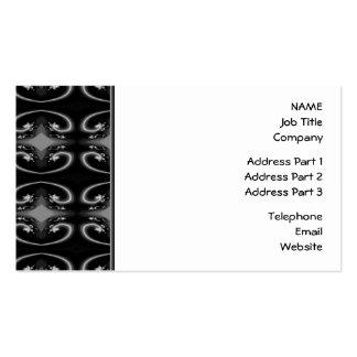 Classy Monochrome Swirl Pattern. Pack Of Standard Business Cards