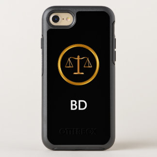 Classy Monogram Attorney OtterBox Symmetry iPhone 7 Case
