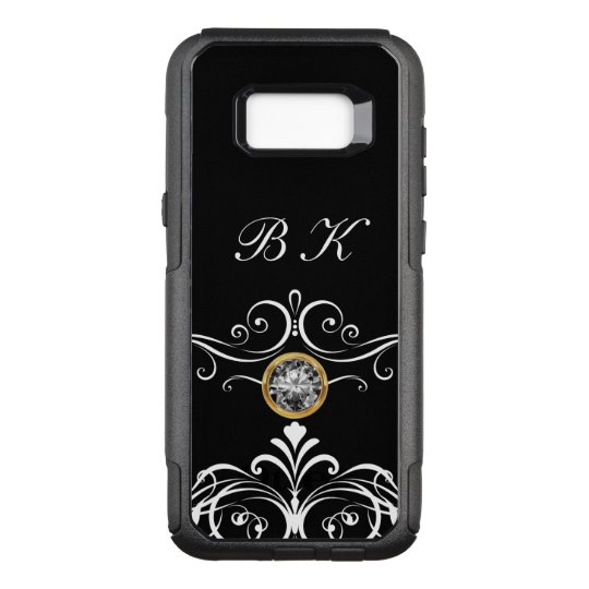 Classy Monogram Bling OtterBox Commuter Samsung Galaxy S8+