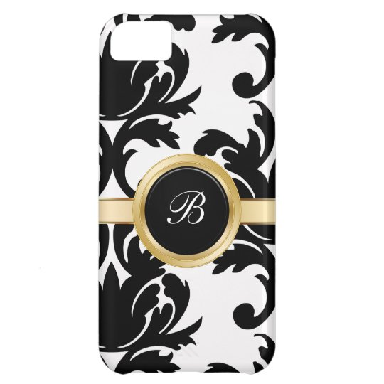 Classy Monogram Damask iPhone 5C Cases