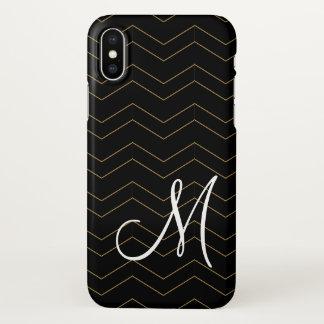 Classy Monogram Girly Design iPhone X Case