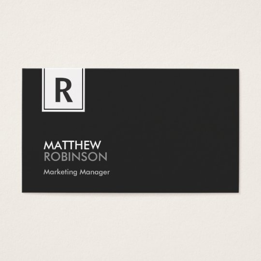 Classy Monogram - Modern Black and White Business