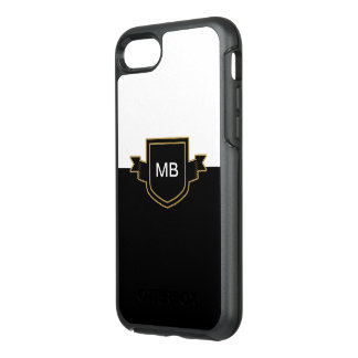 Classy Monogram Name Initials OtterBox Symmetry iPhone 8/7 Case