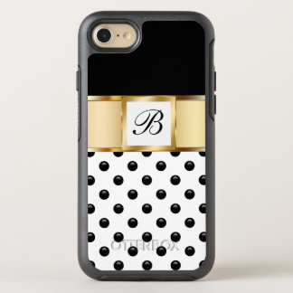 Classy Monogram Style OtterBox Symmetry iPhone 8/7 Case