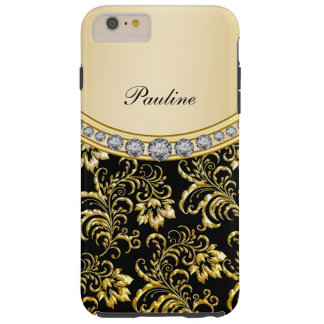 Classy Monogram Style Tough iPhone 6 Plus Case