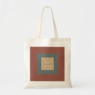 Classy Monogrammed Square Tote Bag