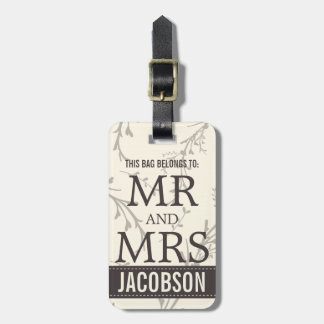 Classy Mr and Mrs Personalized Bag Tag