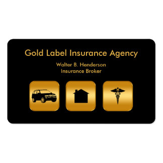 Classy Multi Line Insurance Agent Pack Of Standard Business Cards