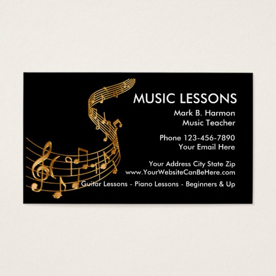 Classy Music Lessons Business Card