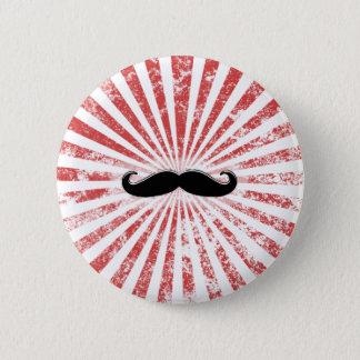 Classy Mustache 6 Cm Round Badge