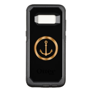 Classy Nautical Gold And Black OtterBox Commuter Samsung Galaxy S8 Case