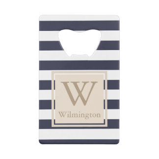 Classy Nautical Thick White Stripes - Personalized