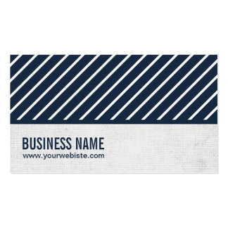 Classy Navy Blue Sports Agent Business Card