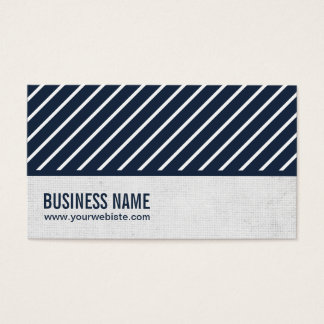 Classy Navy Blue Striped Journalist Business Card