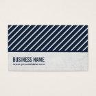 Classy Navy Blue Striped Podiatrist Business Card
