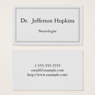 Classy Neurologist Business Card