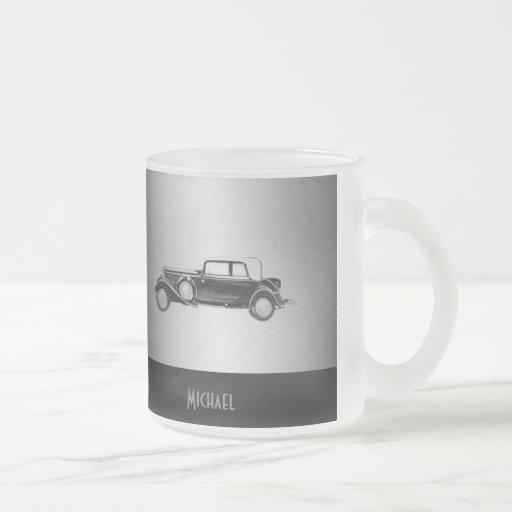 Classy old car silvery coffee mug