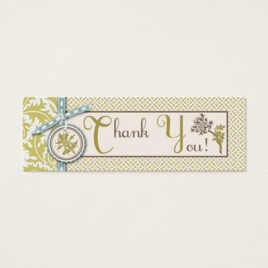 Classy Olive TY Skinny Gift Tag